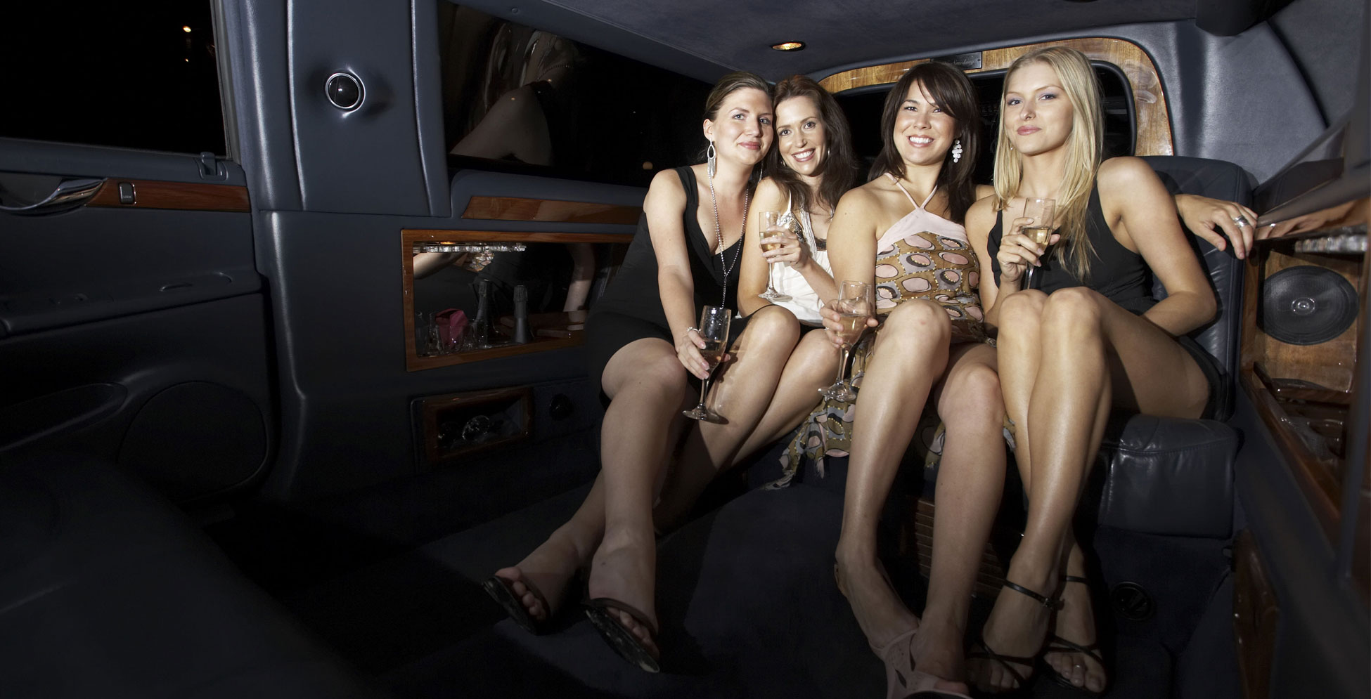 ladies in limousine